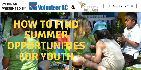 How to Find Summer Volunteer Opportunities For Youth Webinar